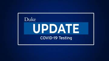 Update on COVID-19 Testing for Duke Student-Athletes
