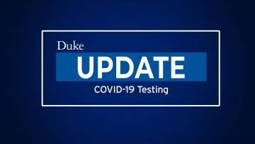 Update on COVID-19 TestingforDuke Student-Athletes