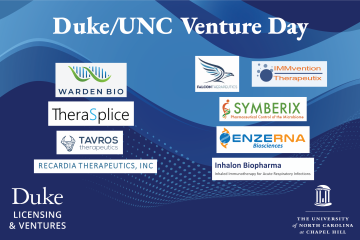 Nine spinout companies from Duke and UNC pitched their ideas to investors.