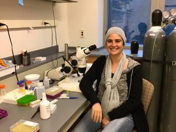 Pelin Volkan in her lab.