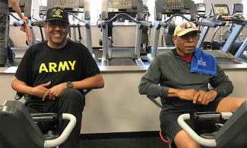 James Richmond and other veterans participating in the exercise program targeting older veterans.