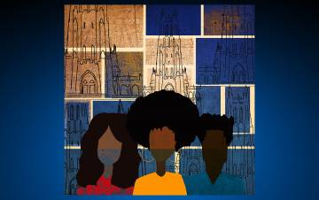 "Zaire McPhearson, an instructor in the Department of Art, Art History and Visual Studies, made the winning artwork that will accompany Working@Duke's ""Working Toward Racial Justice"" story series."