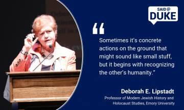 Deborah E. Lipstadt on the Rise of Antisemitism