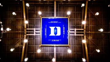 looking up inside Cameron Indoor Stadium