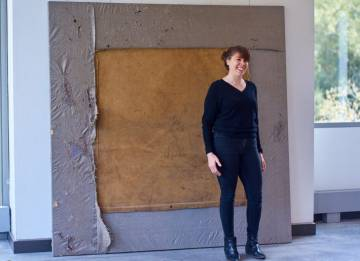 Artist Brenda Goldstein, in residence in the Ruby's painting studio