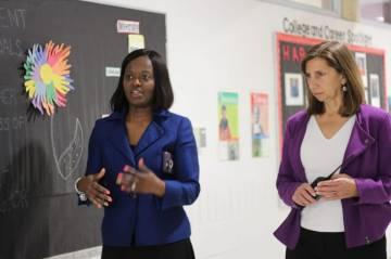 Dr. Shaneeka Moore-Lawrence with Leslie Babinski