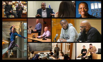 Montage of black faculty members in Trinity College