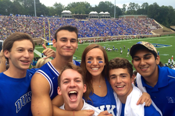 Bobby Menges (2nd from right) was a freshman at Duke University when he was diagnosed with cancer for the third time.