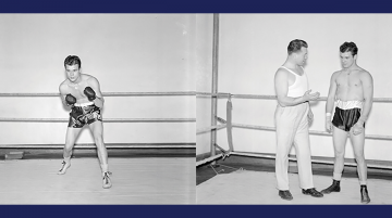 photos from the archives of the 1930s Duke boxing team