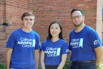 Evan Murray, Mirai Matsuura and Alejandro De La Torre are heading to medical school after one year of advising high school students.