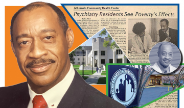 Dr. James Carter and a collage of material about him
