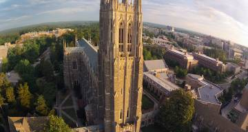 Aerial of Duke chapel