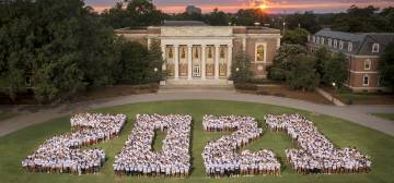 The Class of 2021 gets its class photo. Courtesy Duke Photography
