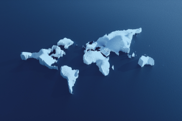 Climate map showing a warming world