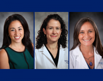 Professors Rosa Gonzalez-Guarda, Dr. Gabriela M. Maradiaga Panayotti and Dr. Viviana Martinez-Bianchi