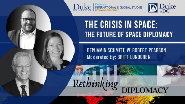 poster for the session on the Crisis in Space