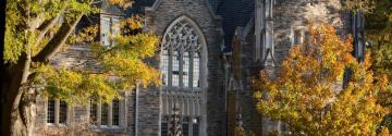 Allen Building in fall