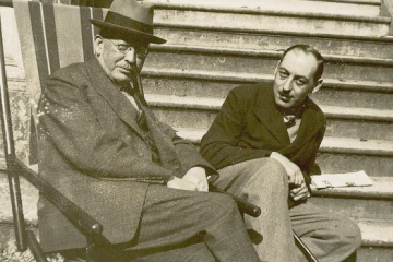 Constantine Curran and Paul Léon. Photograph: UCD Curran Collection