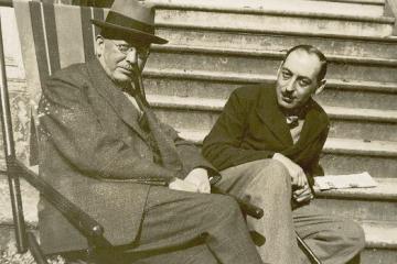 Constantine Curran and Paul Léon. Photograph: UCD Curran Collection