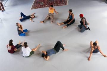 Inaugural dance in MFA class