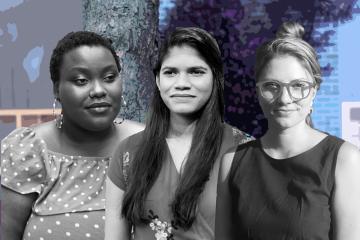 From left: Laura Mkumba, Yadurshini Raveendran, Andrea Koris