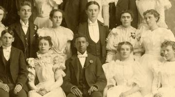 archival photo of african-american family