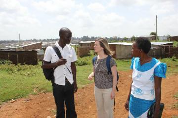 Eve Puffer in Kenya