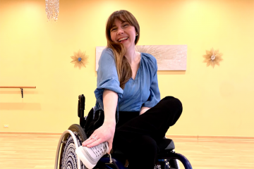 Laurie Aman is a paraplegic woman and a model in