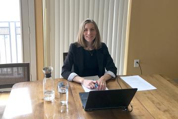 Amanda Grittner, immediately following her successful online dissertation defense.