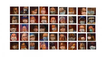 45 portraits of Duke Hospital Employees by Maria Hock