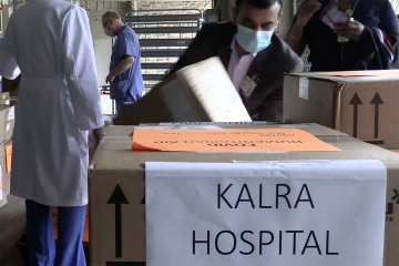 Collecting medical supplies for India