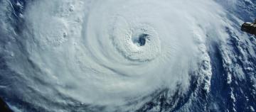 hurricane over the Atlantic