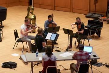 string quartet performance