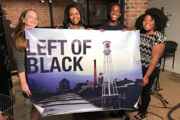 Story+ students Allison Raven, Nicole Higgins, Malcolm Brown and Ce-Ondra Ellison