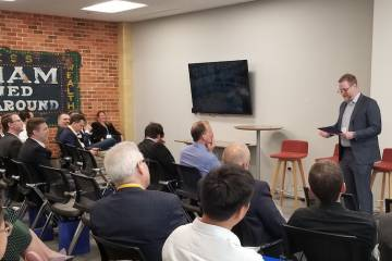 On Wednesday, May 1st, Over A Dozen Venture Capital Firms Gathered For The First Duke Venture Day At The Newly Refurbished Chesterfield Building In Downtown Durham.