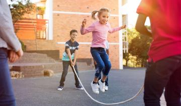 children engaging in healthy behavior