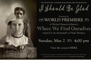 Duke Chorale concert poster