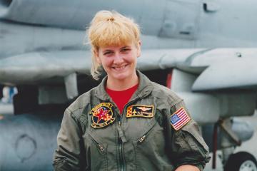Missy Cummings as a fighter pilot