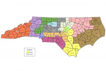congressional electoral map of North Carolina