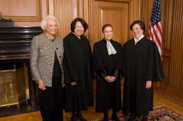 Sandra Day O'Connor with other female Supreme Court justices. Steve Petteway, Collection of the Supreme Court of the United States