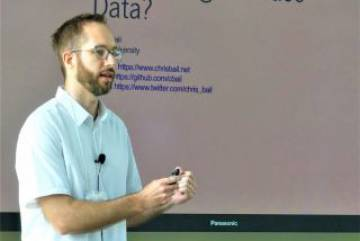 Dr. Chris Bail from Duke University discusses digital trace data at the Summer Institute for Computational Social Science held at Duke in June 2018