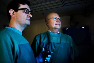 Gastroenterologists Darin Dufault, MD, and Stan Branch, MD, perform the POEM procedure at Duke. It helps people with achalasia eat and drink comfortably again.