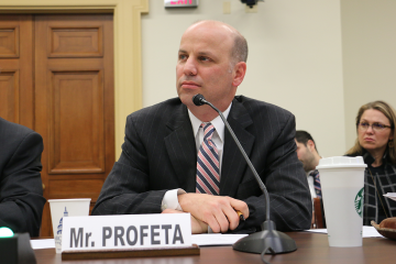 Tim Profeta offers testimony before the House Energy and Commerce Committee.