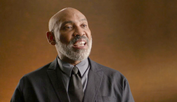"Richard Powell, in a scene from the HBO documentary ""Black Art: In the Absence of Light."""