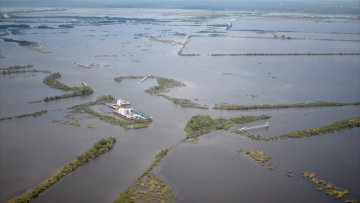 aerial photo of Louisiana coast taken by James Robinson