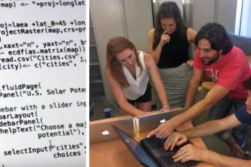 Harper and Rosenstein were able to create six web-based apps exploring climate change,
