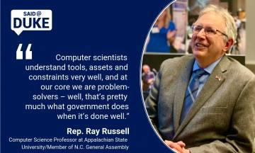 N.C. Rep. Ray Russell on a Scientist in the Legislature