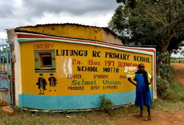 a primary school in Lutungu