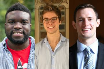 Duke seniors Justin Bryant and Julian Keeley and 2015 graduate David Robertson were named to the second class of Schwarzman Scholars.