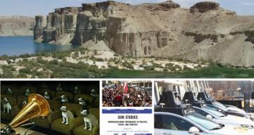 Top: Band-e-Amir National Park in Afghanistan. Bottom, from left: Kata Gellen's